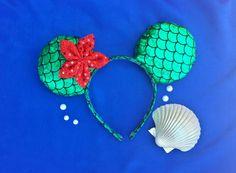 The Little Mermaid Ariel Flower Mouse Ears