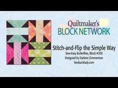 Easy Beginners Intro to Simple Stitch & Flip for XOXO & Butterflies! - Page 2 of 4 - Keeping u n Stitches Quilting | Keeping u n Stitches Quilting