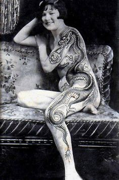 The original girl with the dragon tattoo.