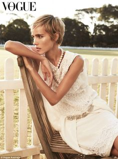 Lovely in lace: Isabel Lucas