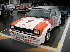 toyota starlet kp61 trd cup car Toyota Racing Development, Toyota Starlet, R Vinyl, Ae86, Japan Cars, Toyota Cars, Jdm Cars, Toyota Corolla, Old Toys