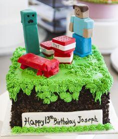 Minecraft cake! Cake # 021.