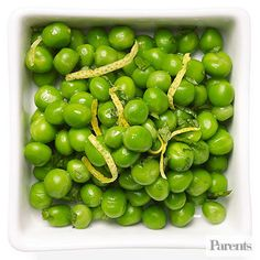 Saute 2 cups frozen peas in 2 teaspoons olive oil on medium for 2 minutes. Remove from heat; add 2 tablespoons fresh mint, 1 teaspoon lemon peel, and a dash of salt and pepper.  Tip: Ready in 15 minutes.