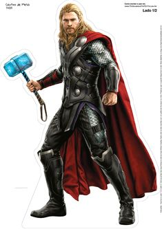 Thor, from The Avengers: Age of Ultron Marvel Comics Poster - 30 x 41 cm Marvel Avengers, Marvel Heroes, Avenger Party, Chris Hemsworth Thor Workout, Bolo Thor, Ultron Movie, Disneysea Tokyo, Thor 1, Hulk Vs Thor