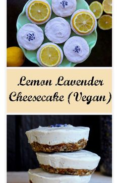 Vegan Lemon Lavender Cheesecake