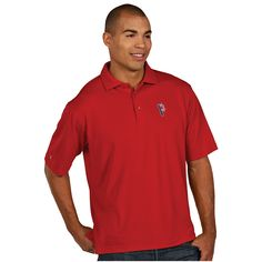 Pittsburgh Pirates MLB Pique Xtra Lite Mens Polo Dark Red Stars and Sr