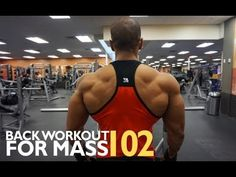 BACK WORKOUT FOR MASS 102 - YouTube
