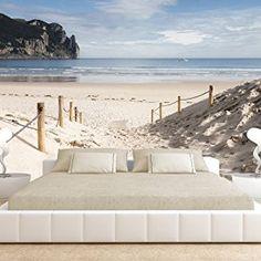 murando® Fotomural 350x245 cm ! Papel tejido-no tejido. Fotomurales - Papel pintado 350x245 cm - XXL playa naturaleza cielo lago c-B-0028-a-a