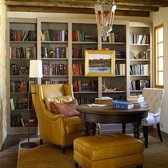 Southwestern Design Ideas: Study - 101 Inspiring Decorating Ideas from the Texas Idea House - Southern Living Home Office, Attic Office, Study Office, Living Area, Living Spaces, Living Room, Architecture Unique, Architecture Desk, Southern Living Homes