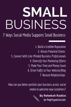 7 Ways Social Media Supports Small Business