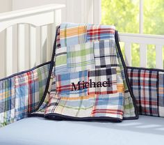 Madras Nursery Bedding | Pottery Barn Kids - $89