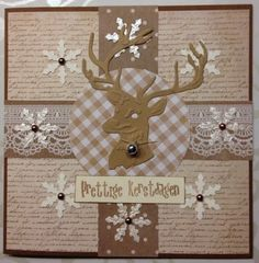 Christmas Deer/ Kerst / Rendier - LindaCrea