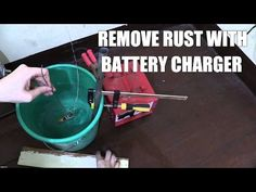 I try my hand at electrolysis rust removal using a steel pipe, a car battery charger and some water with baking soda. If you don& have a car battery cha. How To Clean Rust, How To Remove Rust, Metal Detecting Tips, Bad Marriage, Snoring Solutions, Repurposed, Charger, Rust Removal, Geek Stuff