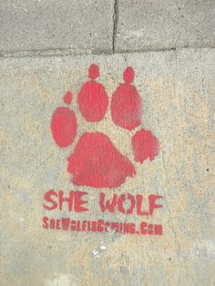She Wolf, Street Art Stencil From Los Angeles