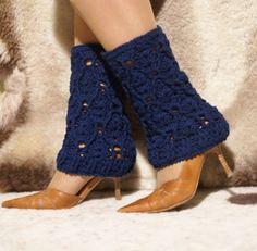Crochet Blue Leg Warmers $17