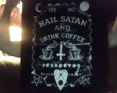 Hail Satan and Drink Coffee backpatch