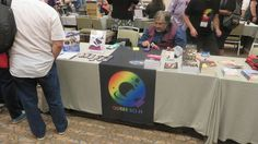 Arshad at the Queer Sci Fi table