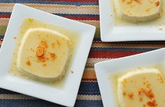 Flan with Caramel and Orange from Andrew Zimmern.