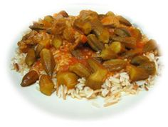 Bamia aka okra:  This is a typical Iraqi dish, cooked in an Iraqi way. You will find other Arab countries serving this meal with many variations; some use other spices, while others cook the Bamia with chicken. The sauce is lemony with garlic and a hint of spices, it is served with rice.