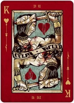 King of Hearts playing card - Requiem Playing Cards on Behance