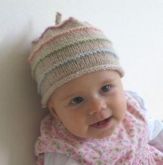 Lucia organic hat. Free pattern. What a cute gift.