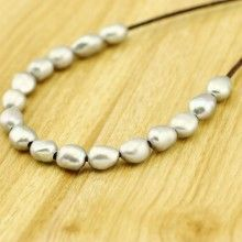 Loose Pearl - Silver Pearl - 20 pieces Baroque Pearl -Pearl Necklace - 9-10 mm Grey Pearl - Pearl Bracelet - Pearl Ring - AA quality - L0130