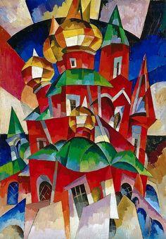 Aristarchus Lentulov - Red Church, 1916-17 ====================