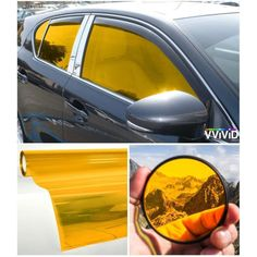 VViViD Colorful Transparent Vinyl Car Window Tinting x 2 Roll Pack (Yellow) Green Windows, Best Windows, Recycling, Yellow Car, Auto Glass, Curved Glass, Fade To Black, Car Car, Car Accessories