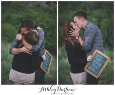 YES! I love this surprise announcement for the daddy, with a photographer capturing the surprise! Perfect!