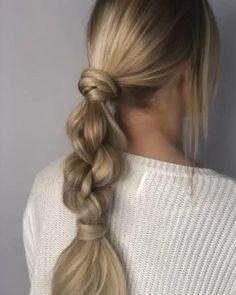 Easy Hairstyles For Long Hair, Ponytail Hairstyles, Cute Hairstyles, Wedding Hairstyles, Hairstyle Ideas, Hairdos, Updos, Creative Hairstyles, Hair Updo
