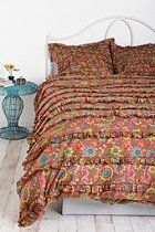 Wildflower Ruffles Duvet Cover  #UrbanOutfitters ~ got this for my summer bedding on sale super cheap and so pretty. It's going to girly up my over the top vegas regency bedroom