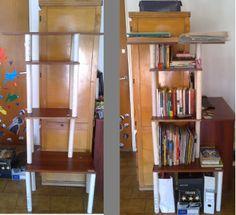 Biblioteca. Melamina y tubos de PVC.