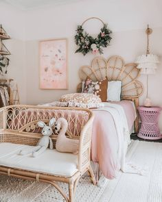 A room should never allow the eye to settle in one place. It should smile at you and create fantasy home decor decoration salon decoration interieur maison Source by tamara_hanssen girls bedroom Girls Bedroom, Bedroom Decor, Room Decor Boho, Kids Bedroom Ideas, Bedroom Apartment, Nursery Ideas, Rattan Furniture, Little Girl Rooms, Girl Kids Room