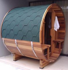 Traditional sauna room | mini sauna room | barrel sauna outdoor