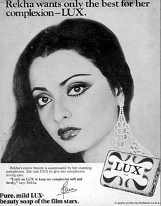 Lux is a latin word whose meaning is light, a symbol of luxury. That's the reason why it has always been branded in India as filmi sitaaron ka saundarya saabun (the beauty soap of film stars). Lux soap was first launched in India by Lever Brothers in Vintage Advertising Posters, Old Advertisements, Vintage Posters, Vintage India, Vintage Ads, Vintage Photos, Soap Advertisement, India Poster, Vintage Bollywood