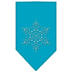Snowflake Rhinestone Bandana Turquoise Large