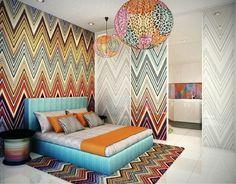 un flat de diseñador, by missoni !