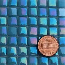 Mosaic Glass Tiles - 2 Ounces About 87 Tiles - Iridescent Phthalo Blue Glass Mosaic Tiles, Mosaic Art, Iridescent Tile, Blue And Silver, Colors, Colour, Color, Mosaics, Paint Colors