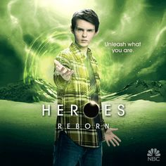 Pin for Later: Prepare to Be Dazzled by the Animated Posters For Heroes Reborn Robbie Kay as Tommy