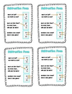 Subtraction Poem Freebie - Use this subtraction poem to help your students remember when to regroup.