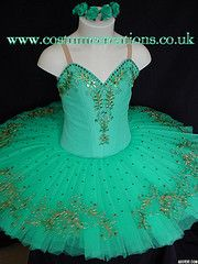SEA GREEN TUTU with Gold Decoration