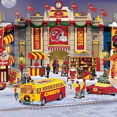 Kansas City Chiefs Christmas Village Collection. We don't really do Christmas so this is perfect.