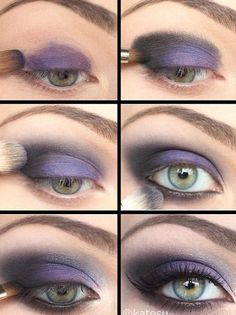 Purple and Black Smoky Eye Makeup Tutorial