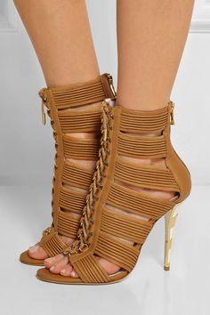 Balmain|Hopi leather sandals |NET-A-PORTER.COM