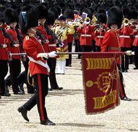 Guardie irlandesi che svolgono il loro ruolo cerimoniale