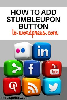 Have you noticed that some blogs on WordPress dot com have the StumbleUpon button but when you go look at your sharing settings, you can't find the option to add StumbleUpon? Have you wondered how they did it? It is super easy to do and this tutorial will show you how you can add the StumbleUpon social sharing icon button in less than a minute.
