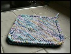 Diamond Potholder knitting pattern with cotton yarn