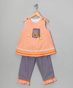 Orange Gingham Halloween Top & Pants - Infant, Toddler & Girls