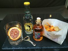 VIP Treatments - orange Gin Thomas Henry Tonic & Chips Tonic Water, Gin And Tonic, George House, Hotel Amenities, Food Displays, Food Tasting, Bar, Finger Foods, Beverages
