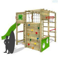 Klettergerüst FitFrame Fresh XXL mit Rutsche und Reckstange zum Turnen. Qualitativ hochwertige Spieltürme und Zubehör zu guten Preisen im online Shop!